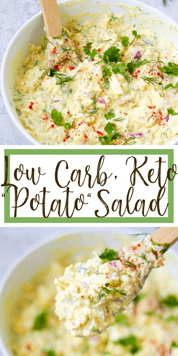 low carb, keto potato salad - fauxtato salad