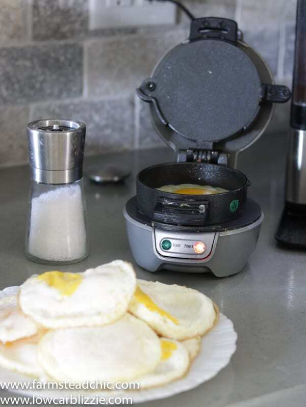 Keto breakfast sandwiches - meal prep eggs