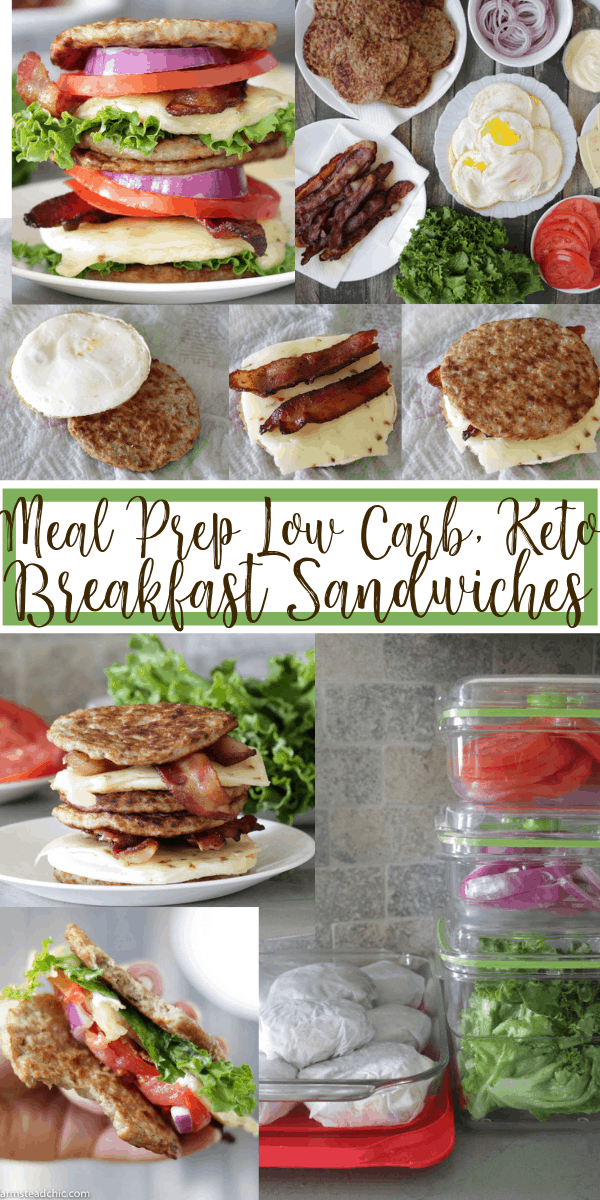 Meal Prep Keto Breakfast Sandwiches