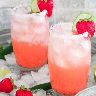 Low Carb, Keto Strawberry Serrano Margaritas