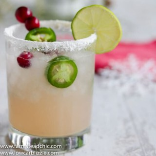 Low Carb, Keto Spicy Cranberry Margarita