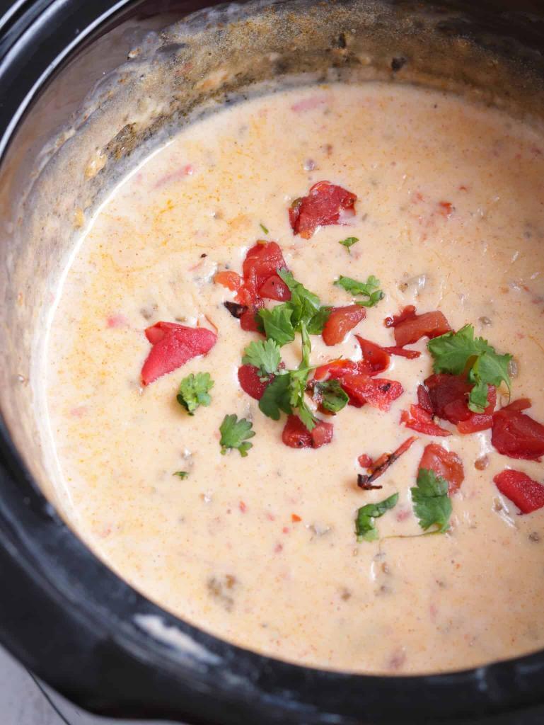 Keto Sausage and Rotel Cheese Dip
