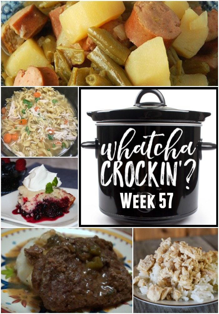 This week's Whatcha Crockin' crock pot recipes include Instant Pot Chicken Noodle Soup, Mixed Berry Dump Cake, Crock Pot Beef Cubed Steak, Crock Pot Sausage, Green Beans and Potatoes, Instant Pot Buttery Chicken, Crock Pot Chili Con Queso, Amazing Crock Pot Caramel Sweet Rolls and many more!