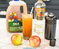 Caramel Apple Cider Cocktail is the perfect fall cocktail that lets you enjoy fresh apple cider with caramel vodka making this caramel vodka apple cider my new favorite cocktail of fall.