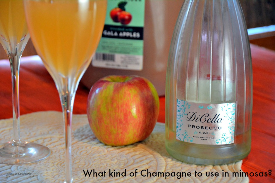 What kind of champagne to use in mimosas?