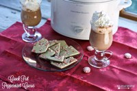 Crock Pot Peppermint Cocoa can be made with three simple ingredients and warm your chilled bones as you watch Christmas movies.