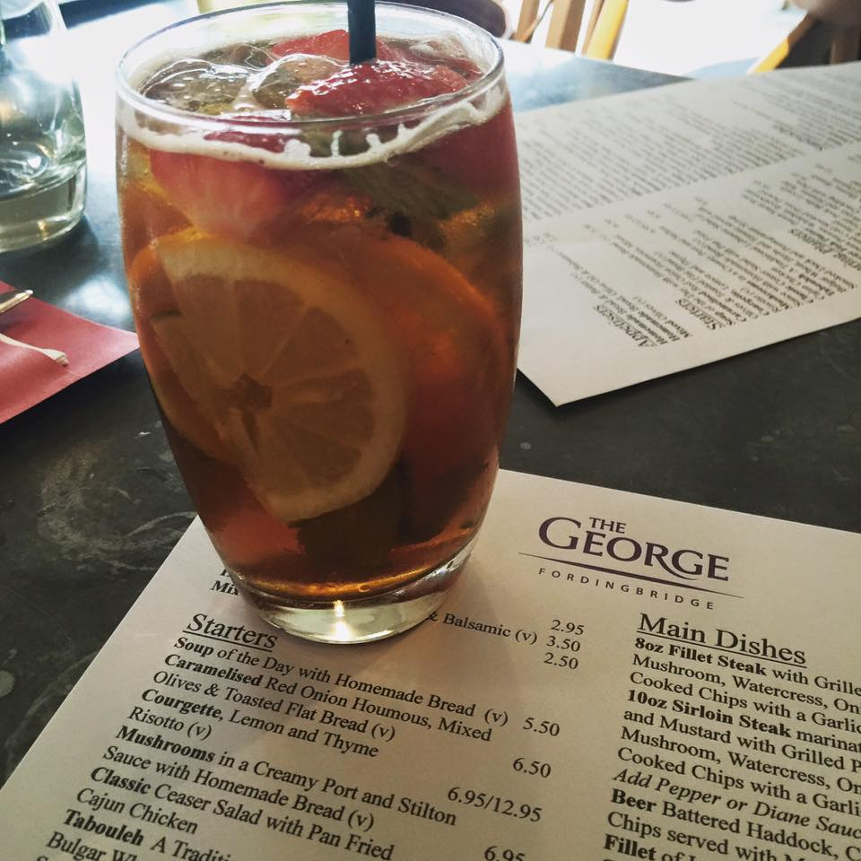 Pimm's Cup is a staple British drink.