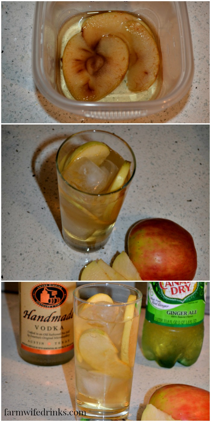 The subtle flavor of apple from the apple infused vodka make this ginger apple cocktail a crisp, refreshing fall cocktail.