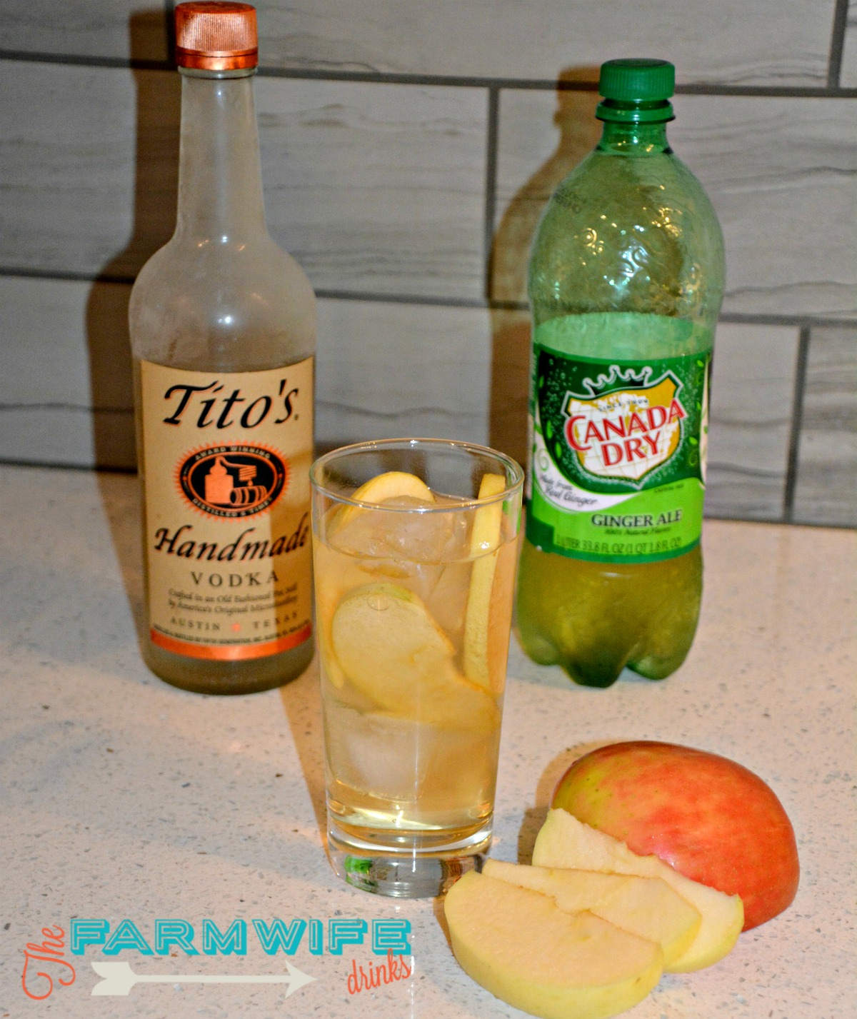 Ginger Apple Cocktail {Made with Apple Infused Vodka}