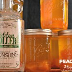 Peach Pie Moonshine, the perfect mason jar gift for the most important people in your life who need who need a stiff drink.