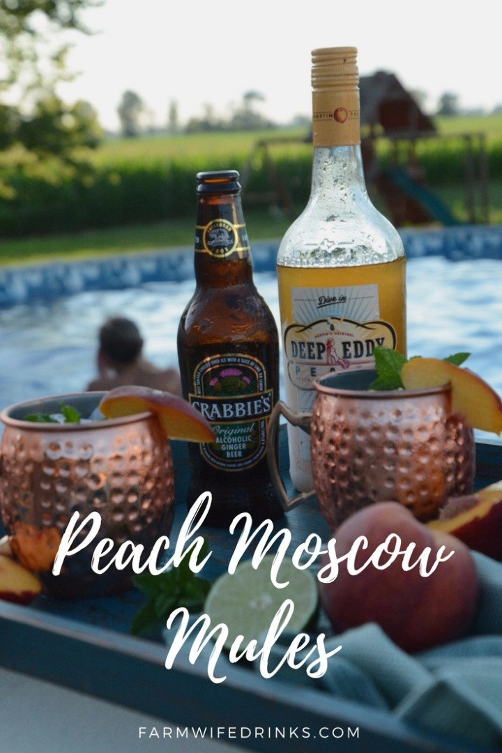 The peach and ginger flavor combinations make this Peach Moscow Mule recipe one of my favorite summer cocktails.