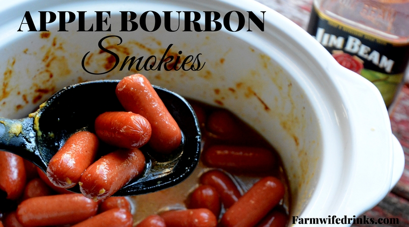 Crock Pot Apple Bourbon Smokies are a sweet and tangy appetizer for change to a traditional smoked sausage appetizer recipe.