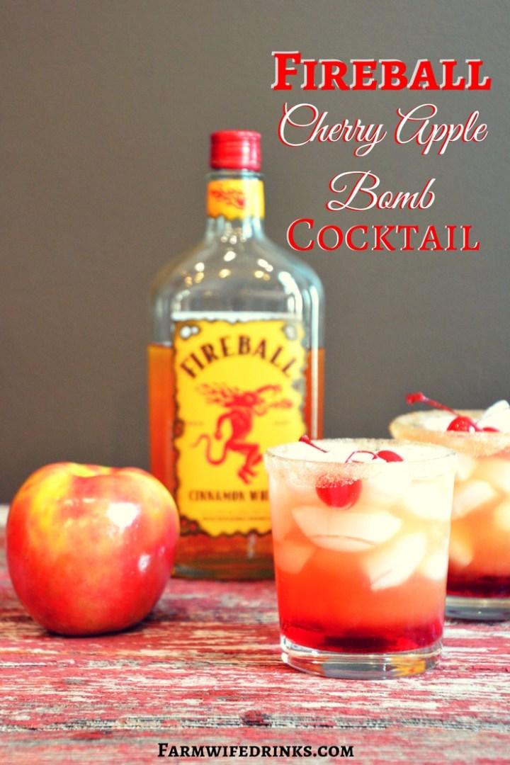Fireball Cherry Apple Bomb Cocktail