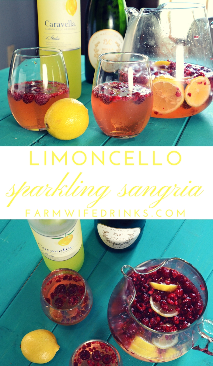 The refreshing flavor combinations of the lemon and raspberries in this limoncello sparkling sangria makes this the perfect cocktail for any occasion.