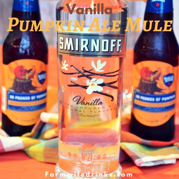 The combination of a pumpkin ale with vanilla vodka in a caramel and cinnamon sugar rim was a brilliant combination for this vanilla pumpkin ale mule.