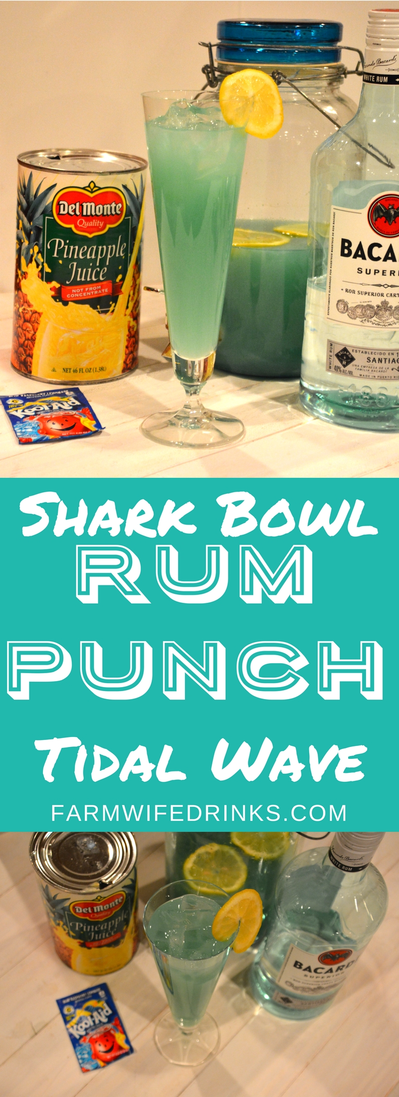 Well, this rum punch - tidal wave or shark bowl punch will bring back memories of sitting around a fishbowl filled with punch and 20 straws.