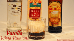 The combination of vanilla vodka and vanilla Kahula make this Vanilla White Russian recipe a perfect evening version of the morning vanilla latte.