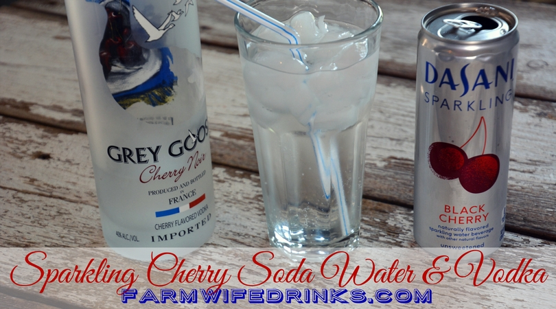 Sparkling Cherry Water and Grey Goose Vodka
