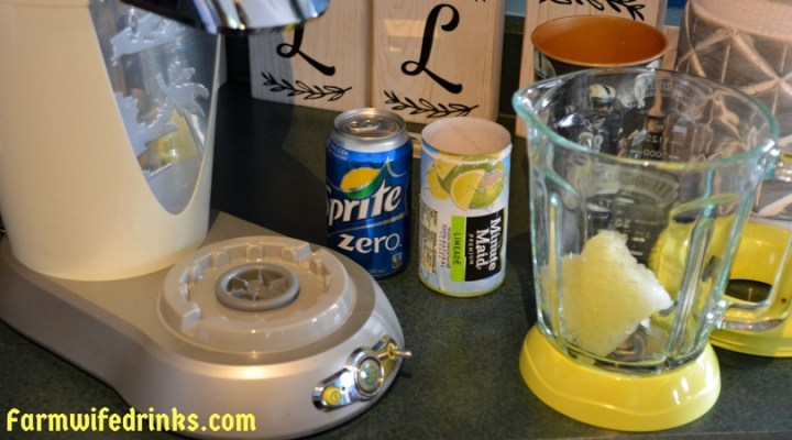Two ingredient mock margaritas are perfect for parties where everyone wants to enjoy frozen drinks. The kids will love their kiddie margaritas.