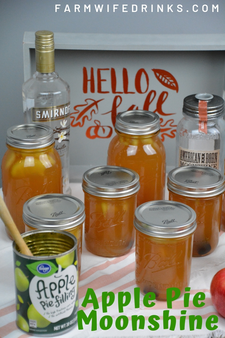 Apple Pie Moonshine by The Farmwife Drinks- WEEKEND POTLUCK 451