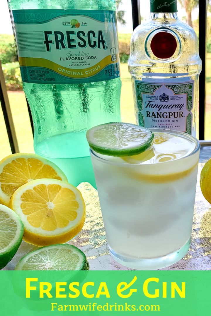 Fresca and gin is a sparkling lemon-lime cocktail that is a close cousin to the gin bucket punch with the simple combining of Fresca soda with Rangpur Gin. #Gin #Fresca #Cocktails