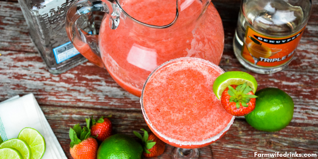 Strawberry Limeade Margaritas The Farmwife Drinks