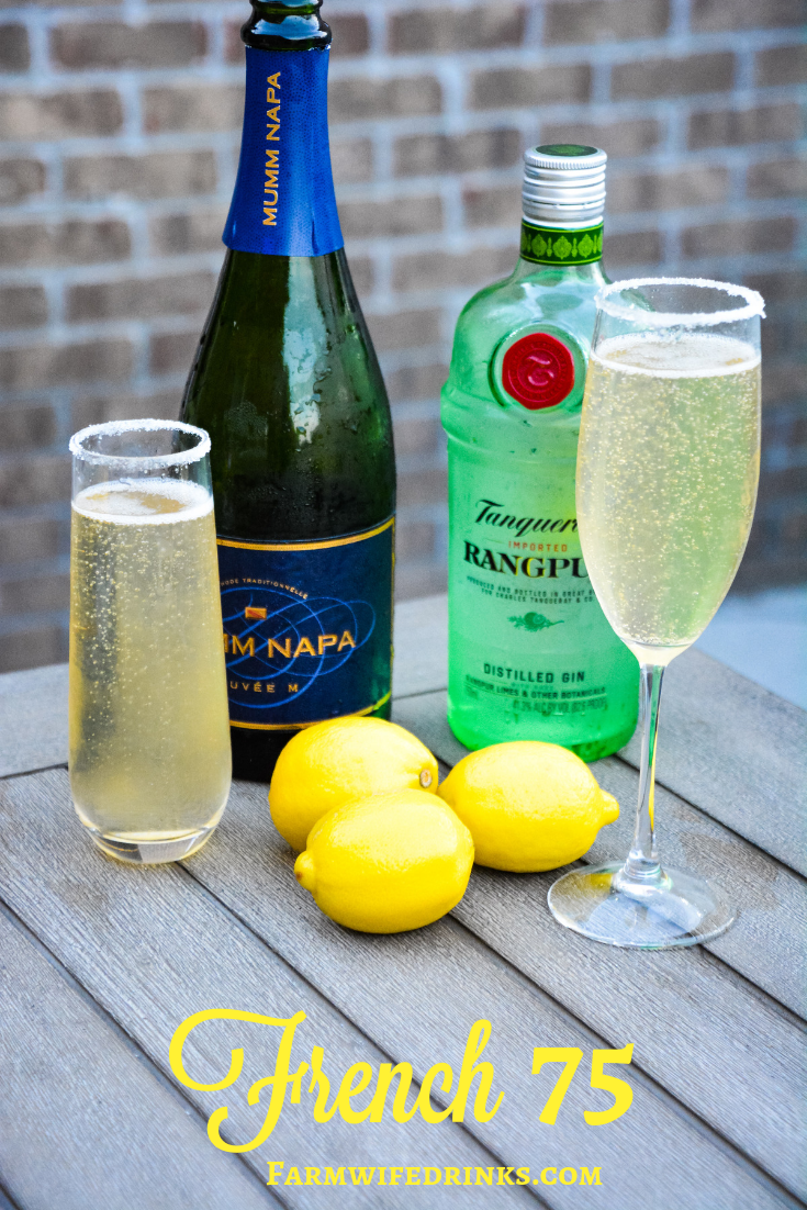 The French 75 is a combination of lemon juice, simple syrup and gin topped off with prosecco.
