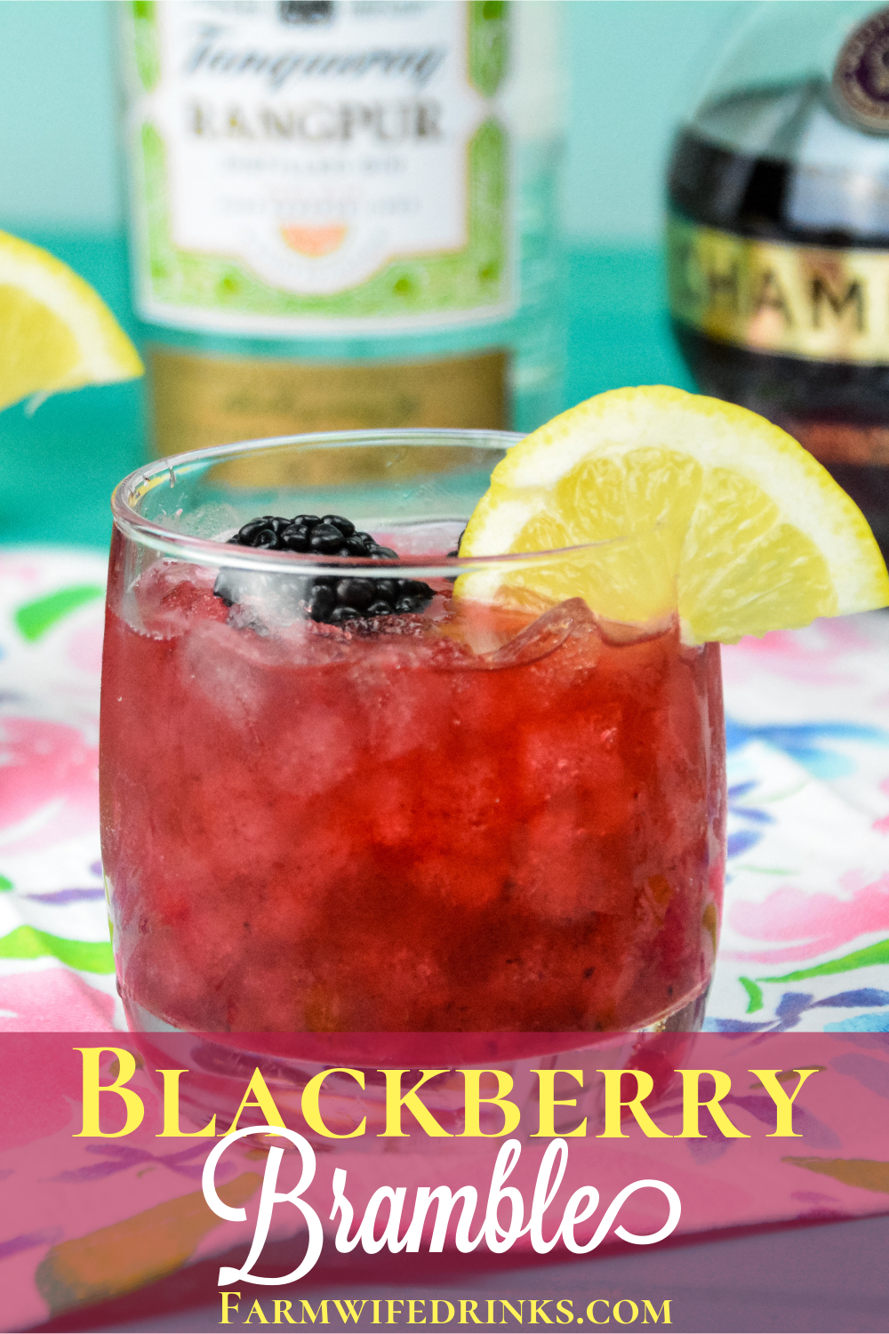 Blackberry Bramble Cocktail combines fresh lemon juice with muddled blackberries and marries perfectly with gin and Chambord for a perfect summer cocktail.