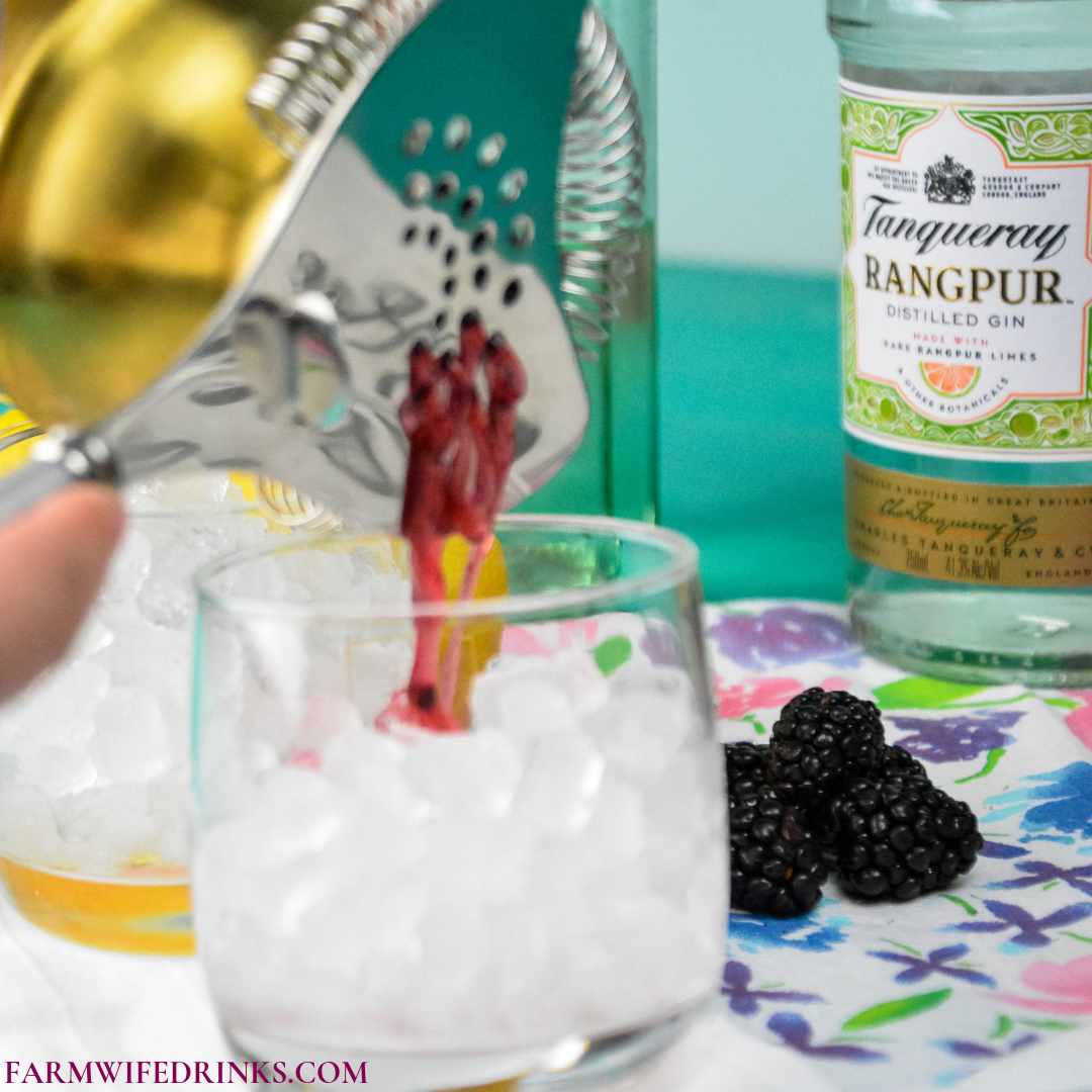 Blackberry Bramble Cocktail combines fresh lemon juice with muddled blackberries marries perfectly with gin and Chambord for a perfect summer cocktail.