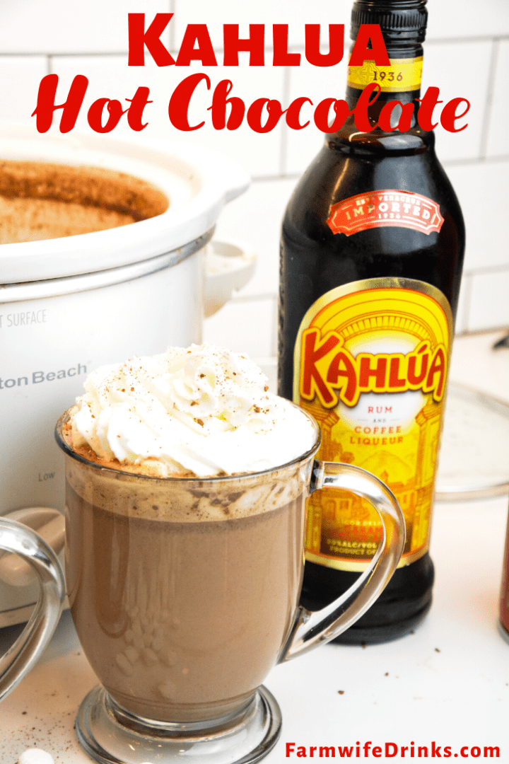 Kahlua Hot Chocolate is the sweet combination of crock pot hot chocolate with coffee liqueur to form a boozy hot mocha drink. This is Kahlua hot cocoa is my favorite hot cocoa.