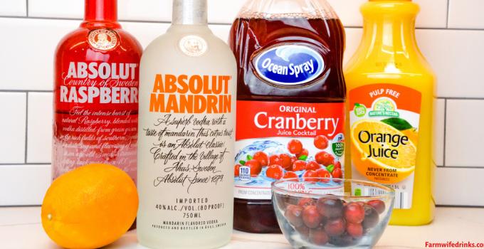 Orange Cranberry Vodka Cocktail – Christmas Eve Cocktail