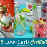 Low-Carb Cocktails can come in all different flavors, but tequila, gin, vodka, and rum will be the lowest carb liquor and can be mixed with zero-calorie mixers like sparkling water, Sparkling ICE, and diet sodas. Here are 15 of my favorite low-carb cocktails.