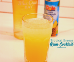 Tropical breeze rum drink is a combination of pineapple juice and banana rum with a splash of lemon-lime soda for the delicious Caribbean pineapple banana rum cocktail