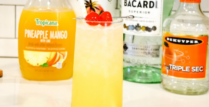 Mango Pineapple Rum Punch – Hawaiian Rum Cocktail
