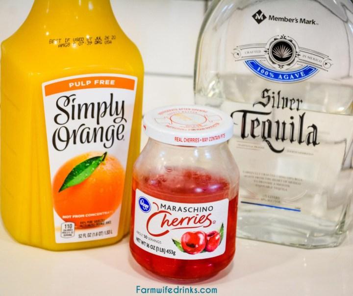 Tequila Sunrise Igredients