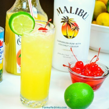 The Caribbean painkiller combines coconut rum and vodka with orange, lime, and pineapple juices for the cocktail that will make you feel like you are sitting on the beach down in the islands.