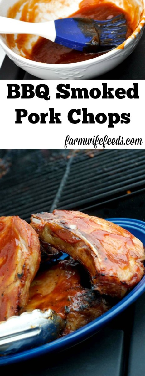 Awesome and super easy BBQ Smoked Pork Chops
