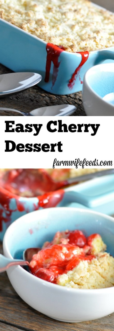 Easy Cherry Dessert - so delicious