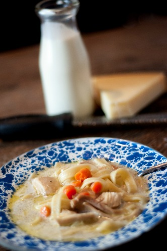 This Homemade Chicken Noodle Soup Recipe is so easy and rich with flavor.