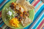Tortilla Chip Taco Bake, a super easy recipe for a Mexican casserole that will please the whole family.