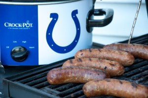 Crock Pot Beer Brats are a super simple way to have the grilled flavor quickly without standing over a grill while your guests are having fun!