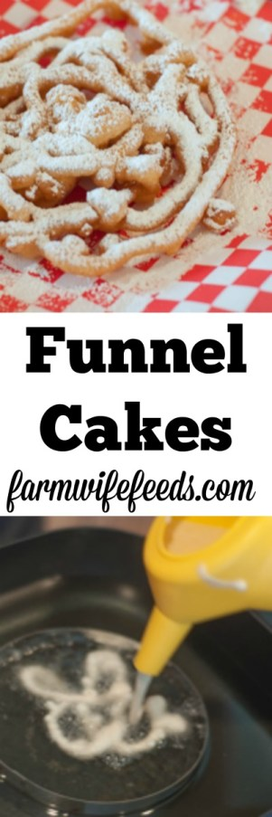 This recipe for homemade funnel cakes is easy and fun even if you're not at the state fair!