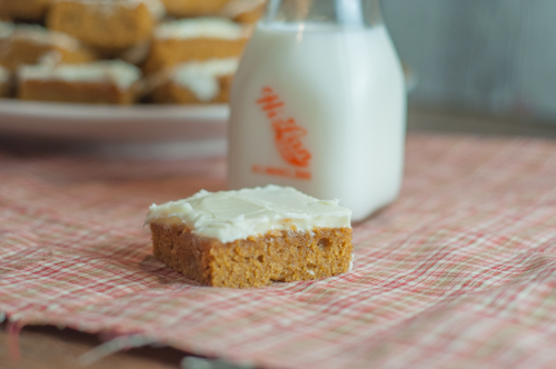 Fall Pumpkin Squares are an easy crowd pleaser, pumpkin and cream cheese icing are a great combination.