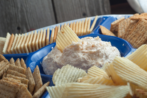 This super simple throw together ahead of time Shrimp Dip is a fun retro party staple!