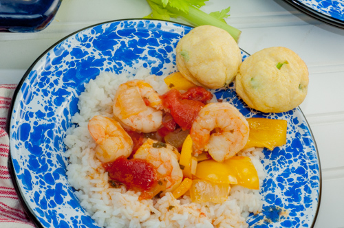 One pot Shrimp Creole I make in my dutch oven from Farmwife Feeds #recipes #shrimp #cajun