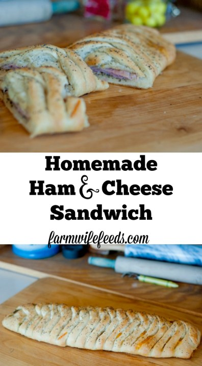Homemade Ham and Cheese Sandwich by Farmwife Feeds is an family pleasing easy meal! #recipe #homemade
