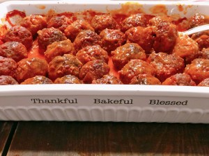 Old Fashioned Farmhouse Iowa Ham Balls from Farmwife Feeds are a classic meatball style dish made with hamburger and ground ham in a tomato base sauce. #hamballs #meatballs #pork #beef #recipe