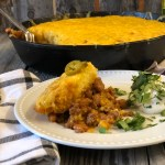 Ranch Beans, Beef and Cornbread Casserole