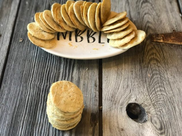 Parmesan Dill Homemade Crackers from Farmwife Feeds are a special salty treat full of dill and parmesan flavor for special occasions. #crackers #parmesan #dillweed