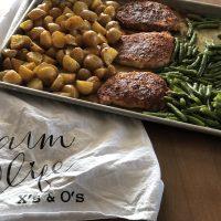 Sheet Pan Pork Chop Dinner